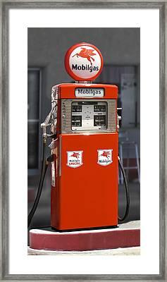 Mobilgas - Wayne Double Gas Pump Framed Print by Mike McGlothlen