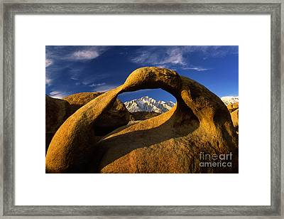 Mobius Arch Framed Print by Inge Johnsson