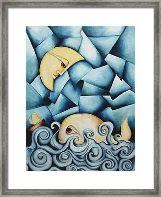 Moby Dick The Daughter Of The Moon  Framed Print by Simona  Mereu