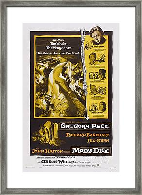 Moby Dick, Us Poster Art, Gregory Peck Framed Print by Everett