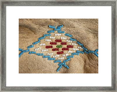 Moccasin Beadwork II Framed Print by Stephen Anderson
