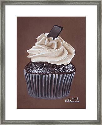 Mocha Cupcake Framed Print by Kayleigh Semeniuk