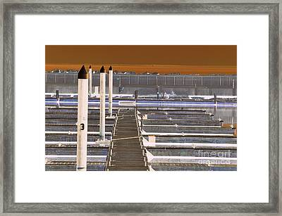 Mocha Dock 2 Framed Print