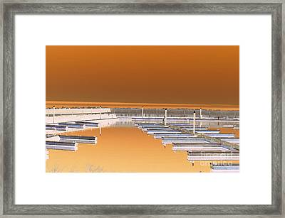 Mocha Dock Framed Print