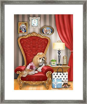 Mocha S Living Room Framed Print by Catia Cho