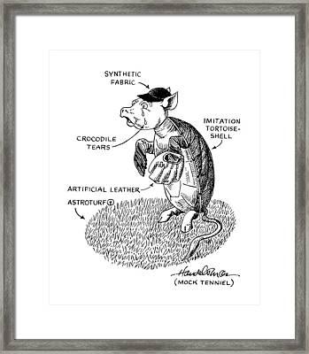 Mock Tennial Framed Print by J.B. Handelsman