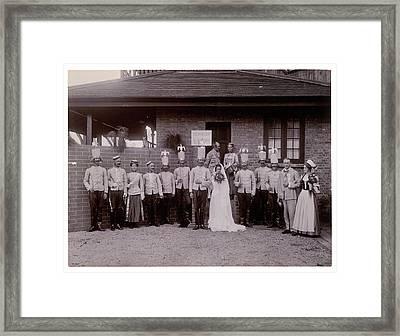 Mock Wedding Framed Print by British Library