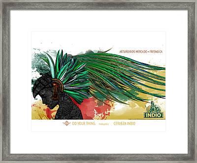 Moctezuma Aztec Ruler Framed Print