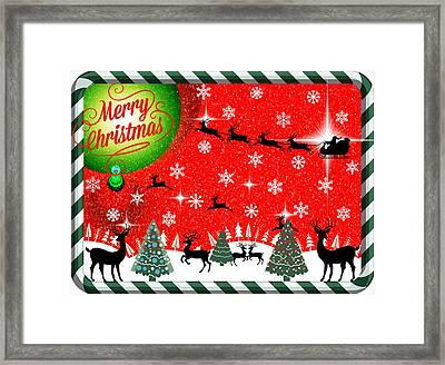 Mod Cards - Reindeer Games - Merry Christmas Framed Print