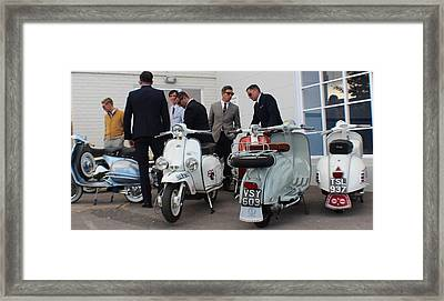 Mod Meeting Framed Print