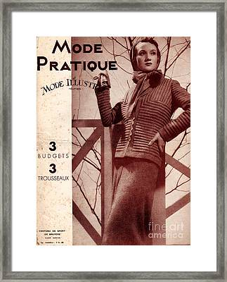 Mode Practique 1930s France Womens Framed Print