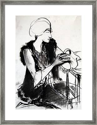 Model #1 - Figure Series Framed Print by Mona Edulesco
