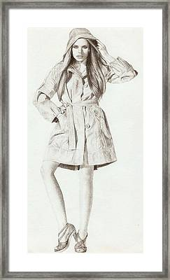 Model 2 Framed Print by Nur Adlina