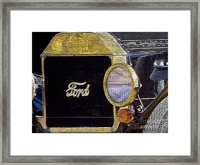 Model A Ford Framed Print by Betty LaRue