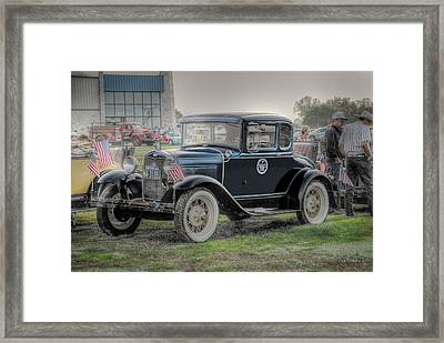 Framed Print featuring the photograph Model A Ford  by Dyle   Warren