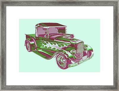 Model A Ford Pickup Hotrod. Framed Print by Keith Webber Jr