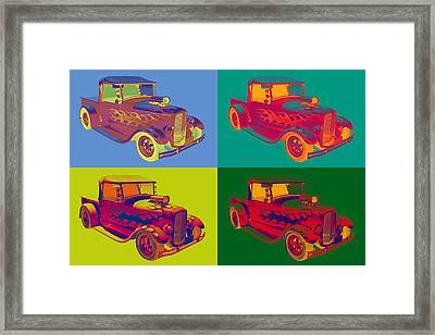 Model A Ford Pickup Hotrod Pop Art. Framed Print by Keith Webber Jr