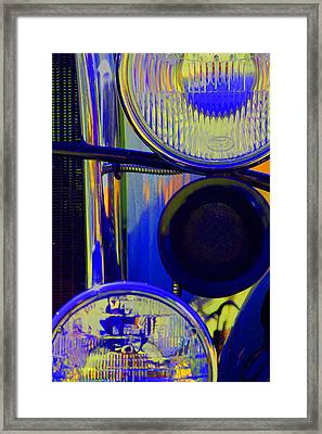 Model A Headlights Framed Print