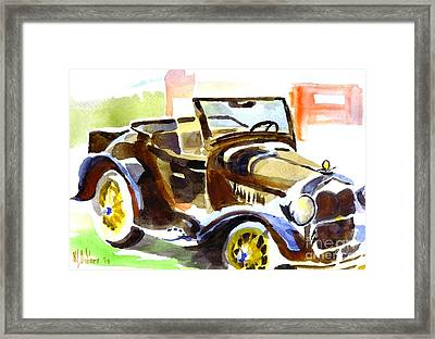 Model A In September Sunshine Framed Print by Kip DeVore
