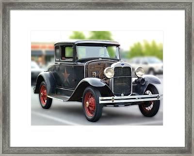 Model A Sheriff's Car Framed Print by Pete Trenholm