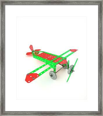 Model Aeroplane Framed Print by David Parker