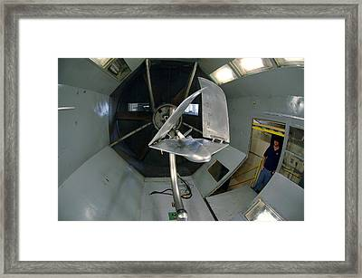 Model Airplane In Wind Tunnel Framed Print by Science Source