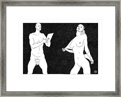 Model And Artist 1 Framed Print