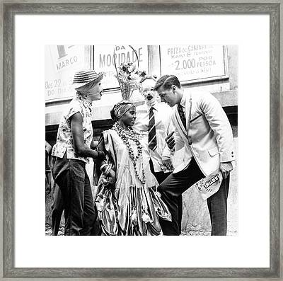 Model At A Carnival Framed Print