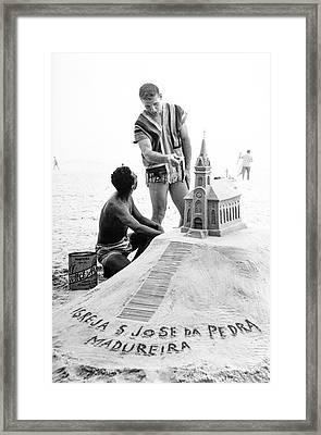 Model By Sand Sculpture Framed Print