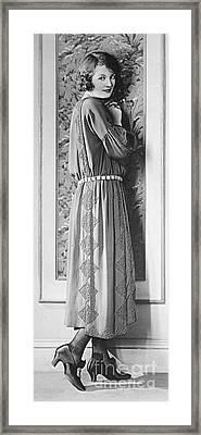 Model Doris Kenyon 1922 Framed Print by Padre Art