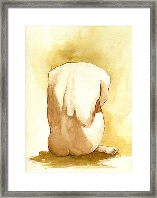 Model Folded Back Framed Print