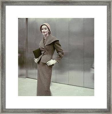 Model In A Suit By Dan Millstein Framed Print