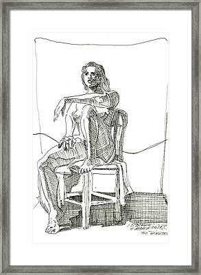 Model In Chair Framed Print