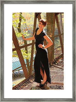 Model In The Light Framed Print