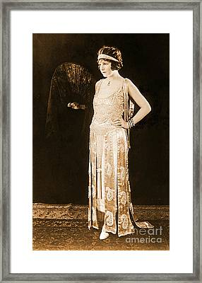 Model Norma Talmadge 1920 Framed Print by Padre Art