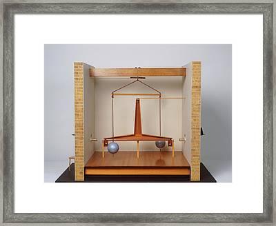 Model Of A Gravitational Experiment Framed Print by Dorling Kindersley/uig