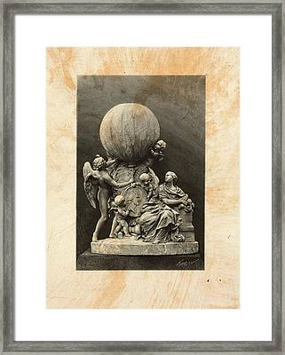 Model Of A Statue Dedicated To French Balloonists Framed Print by Litz Collection