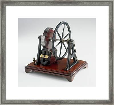 Model Of Electromagnetic Motor Framed Print