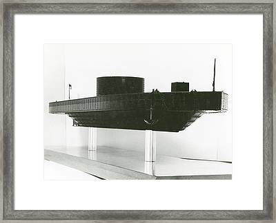 Model Of Ironclad Warship Uss Monitor Framed Print by Us Navy/naval History And Heritage Command