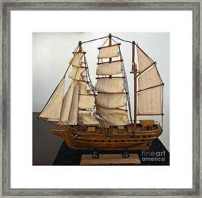 Model Sailing Ship Framed Print