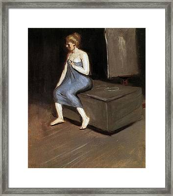 Model Sitting Framed Print by Edward Hopper