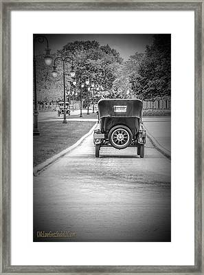 Model T Ford Down The Road Framed Print