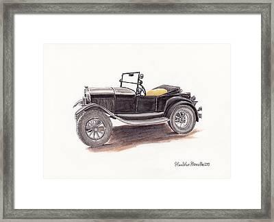 Model T.  Framed Print