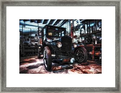 Model T In Hdr Framed Print by Michael White