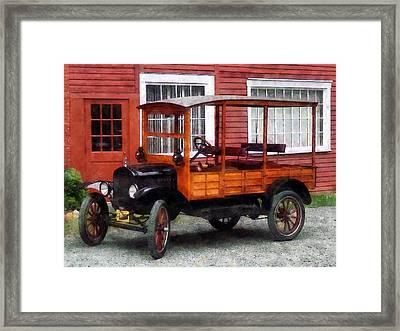 Model T Station Wagon Framed Print by Susan Savad