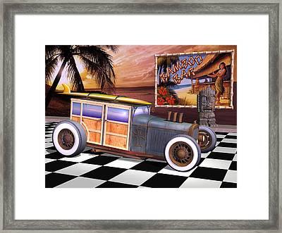 Model T Surf Woody Framed Print by Stuart Swartz