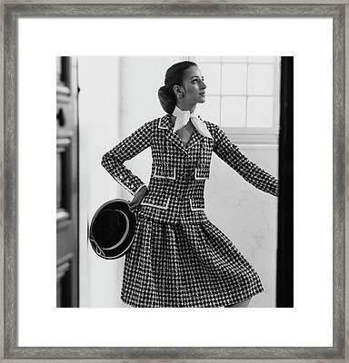 Model Wearing A Chanel Suit Framed Print