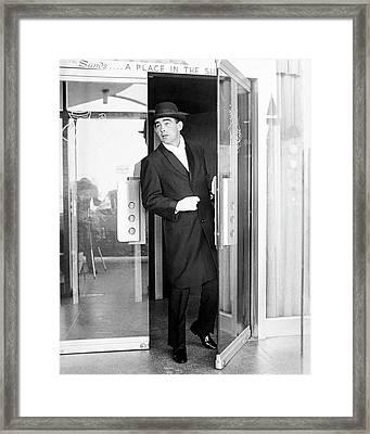 Model Wearing A Mohair Coat Framed Print by Richard Waite