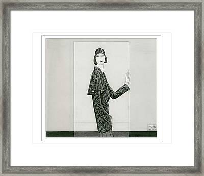 Model Wearing Chanel And Marie-christiane Framed Print