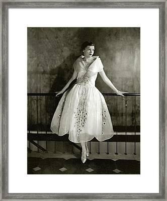 Model Wearing Dress By Lanvin Framed Print